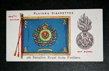 Royal Scots Fusiliers   Battalion Colours   Vintage Picture Card # VGC