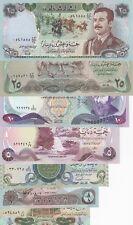 1980 S Iraq Irak Complete Set of 7 Banknotes Saddam Hussein Era 20 - 1/4 Dinar