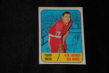 FLOYD SMITH 1967-68 TOPPS SIGNED AUTOGRAPHED CARD #52 RED WINGS