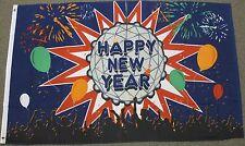 HAPPY NEW YEAR BALL FLAG NEW 3'X5' CELEBRATION HOLIDAY YEARS EVE 3X5 FEET F1099