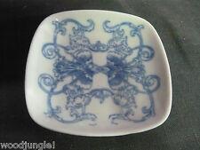 Vintage Ch Hispania Porcelain Dish Spain Blue retro Manises