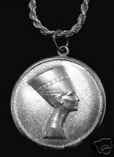 LOOK Silver Egyptian Egypt Queen Nefertiti Pendant Jewelry