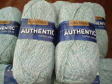 King cole Authentic cotton mix double knitting green denim 8 x 100g @LOOK@
