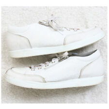 Women's Munro Casual Flats Shoes Size Ten 10 M White Leather Lace Up With Zipper