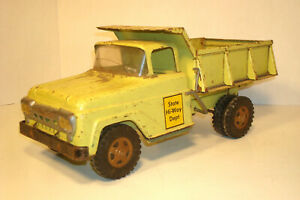 VINTAGE TONKA STATE HYWAY DEPT LIME GREEN PICKUP  DUMP TRUCK PARTS RESTORE