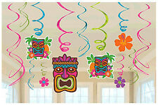 Tropical Tiki Swirl Decoration Summer Beach Luau Hawaiian Party Supplies Dangler