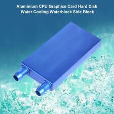 Aluminum PC Water Cooling Block CPU Graphics Radiator Heatsink Cooler 80x40x12mm