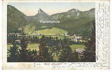 1902 - Dorf Kreuth bei Tegernsee, gelaufen nach Köln