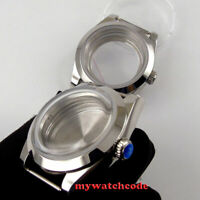 polished 40mm bow glass automatic Watch Case fit 2836 8215 NH35 NH36 Movement