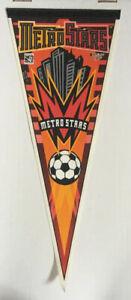 MLS MetroStars Vintage 1996 Soccer Felt Pennant Red Bulls New York USMNT