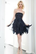 Alice + Olivia Blue Silk Strapless Dress sz XS 2-4 $495