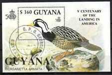 Oiseaux Guyane (22) bloc oblitéré