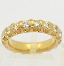 Memory Ring in 14kt 585 Gelb Gold mit Brillant Brilliant Brillanten Brillantring
