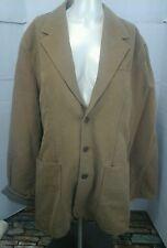Territory Ahead Women's Car Coat Jacket, Tan, Size Lg, 100% Cotton, EUC
