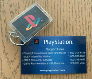 "PlayStation 2 Promo Keychain Sony Plastic PS PS2 1.5"" x 2"" Vintage Vtg Rare New"