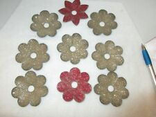 Antique Thick Paper Christmas Light Reflectors Holiday Decorations