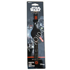 Star Wars Digital LED Kids Boys Wrist Watch Black Touch On New