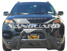 VANGUARD 11-19 FORD EXPLORER FRONT OPTIMUS BULL BAR BUMPER PROTECTOR GUARD B/K