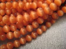 Tangerine Color Cat's Eye Round 4mm Beads 105pcs