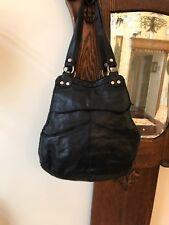 VTG LUCKY BRAND Black Italian Lamb Leather Slouch Hobo Shoulder Bag Purse Boho