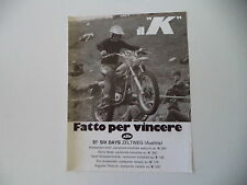 advertising Pubblicità 1977 MOTO KTM e ZELTWEG 51° SIX DAYS