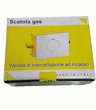 """VALVOLA GAS CON CASSETTA INCASSO E PLACCA 3/4""""  BAMPI GMPVALV1"""