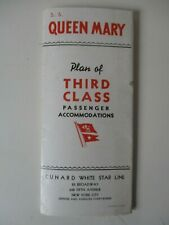 VINTAGE S.S. QUEEN MARY FOLD OUT BOOKLET c.1937