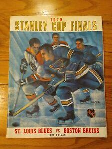 1970 Stanley Cup Finals Program St Louis Blues vs Boston Bruins, RARE