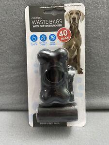 Pet Dog Waste Poo Bag With Clip-On Dispenser - Locks In Odour & Leak Proof Bags