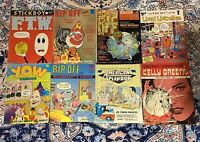 Lot Of 8 Comix Rip Off! Yow! American Splendor! Freak Brothers! Last Gasp! Comic