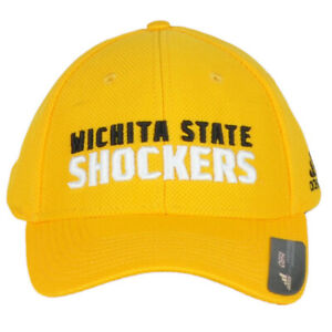 NCAA Adidas Wichita State Shockers 158VZ Yellow Curved Bill Unisex Adult Hat Cap