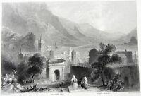 Iran, SHUSH ANCIENT ROMAN TOWN SUSA ARCH ~ 1850 Architecture Art Print Engraving