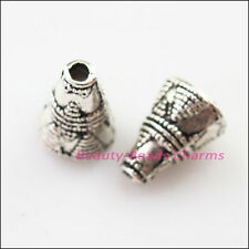 60g//250pcs Antiqued Silver Hollow Flower End Bead Caps For Jewelry Craft  HDZN