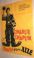 A1 Filmplakat , CHARLIE GEGEN ALLE , CHARLIE CHAPLIN