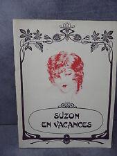 Curiosa Suzon en vacances érotica dessin art déco rare non justifié  Courbouleix