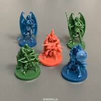 5x Skeletons Heroes Miniatures Sword & Sorcery DND Board Games War Figures Toy