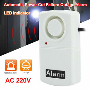 Automatic Power Cut Failure Outage Alarm Warning Siren 120db with LED Indicator