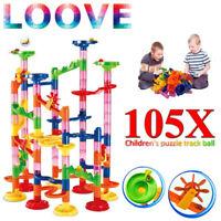 105Pcs Marble Run Race Construction Maze Ball Track DIY Building Block Kids Toy