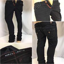 Peoples Liberation Jeans Sz 26 Dark Wash Skinny Cotton Lycra Mint YGI 9639