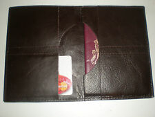 Real LEATHER Passport TRAVEL WALLET COVER vacanza visto documenti loths UK