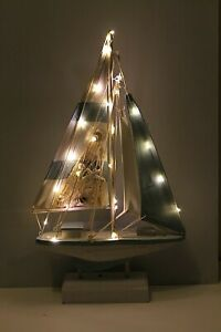 LED Nautical Yacht Boat Home Decor  Requires 2 x AA Batteries  43 x 24cm