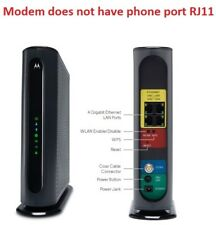 OPEN BOX Motorola MG7550 DOCIS 3.0 Cable Modem +AC1900 Wireless Dual-Band Router