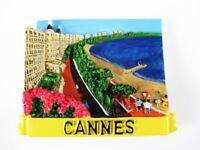 Magnet Cannes Strandpromenade Polyresin,Souvenir Frankreich France,Neu *