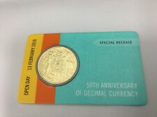 2016 Open Day Gold Plated round 50 cent 50th Anniversary Decimal Currency