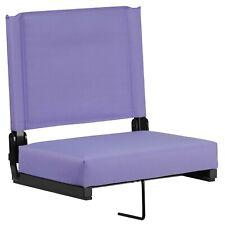 Foldable Stadium Bleacher Chair extra Thick Padded Seat Purple Bleacher Hook New