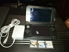 Nintendo 3DS XL Blue Handheld System Bundle charger, 16gb sd card, games, read
