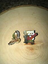 APOLLO 11 25th ANNIVERSARY ORIGINAL PIN And Rare Brass Eagle Pin Lot - Apollo 11