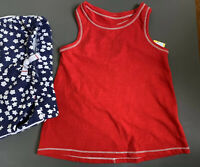 NEW Toddler Girl's CAT & JACK Size 3T 2-Pc 4th Of July America Outfit FREE SHIP!