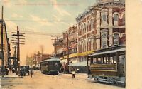 Sherman Texas~North Travis Street~Murphy's 5&10~Denison Ry Electric Trolley~1908