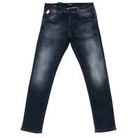 Jack & Jones Hommes's GLENN FOX Slim Fit Taille Basse Gris Du Jean W32 L32